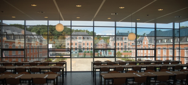 European School, Laeken, Canteen view